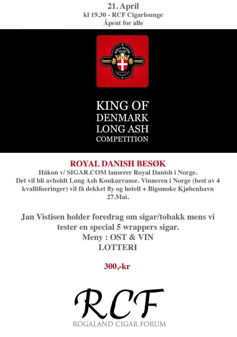 Royal Danish Cigars 20 april